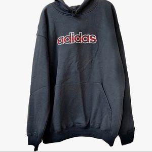 Adidas Black Hoodie Sweatshirt Size Large